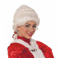 Mrs Claus Wig Adult Santa Costume Christmas Fancy Dress