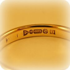 Vintage 9 carat Gold Wartime Utility Wedding Ring, with Chester 1944 hallmark