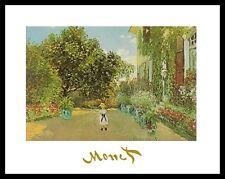 Claude Monet Jardin de l'artiste dans Argenteuil poster art imprimé & cadre 24x30