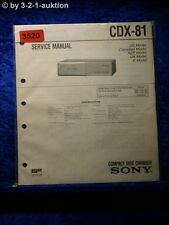 Sony Service Manual CDX 81 CD Changer (#3520)