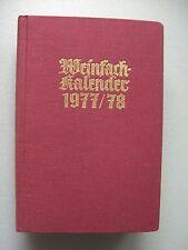 Weinfachkalender 1977/79 Wein Kalender