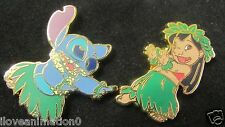 Disney Stitch Japanese TV Series Pin set Stitch and Lilo Hula Skirt PWP Pin