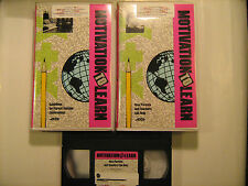(LOT of 2) VHS Tapes MOTIVATION TO LEARN Teaching Videos [Y30d1]