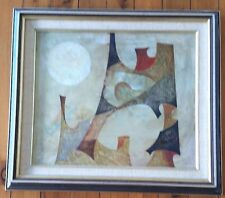 See the Moon by Eric van Wyck , Abstract - Oil on Board circa 1960