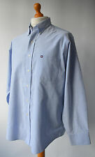 Men's Blue, Chaps by Ralph Lauren Oxford, Wrinkle free Shirt Size XL.