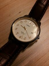"vintage Timex quartz Indiglo men's gold dress watch ""BRAND NEW CONDITION"""