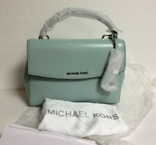 Michael Kors Ava Small Celedon Green Top Handle Satchel leather NWT$268