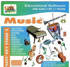 MUSIC  SATS KEY STAGE 2 AGE 7 TO 11 YEARS - WINDOWS 95, 98, XP Clearance bargain