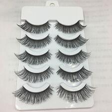 5 Paar Natürlich Falsche Wimpern Künstliche Wimpern Lange Eyelashes Makeup Augen