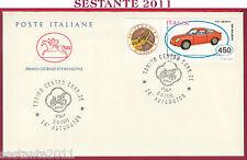 ITALIA FDC CAVALLINO AUTOMOTOR FIAT ABARTH BIALBERO 1991 ANNULLO TORINO T720