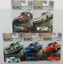 Hot Wheels *EURO STYLE* 5 CAR SET *Porsche 911 993 BMW M3 VW Gulf Fiat 500* NIP!