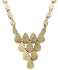 LUCKY BRAND Gold-Tone Hammered Geometric Collar Necklace $49