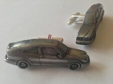 Saab 9.3 Circa 1998 3 Door Coupe'. classic car pewter effect cufflinks ref227