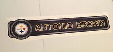 """Antonio Brown FATHEAD Official Player Name Banner 29.5"""" x 6"""" NFL Sign STEELERS"""