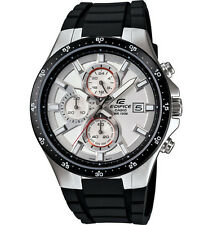 Casio EFR519-7AV, Edifice Chronograph Watch, Black Resin Band, 100 Meter WR