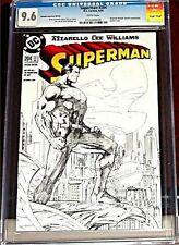 SUPERMAN 204 RARE RETAILER INCENTIVE SKERCH VARIANT CGC 9.6 NM+ RRP