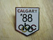 1988 Calgary Olympic Winter Games  Pin  ABC TV PRESS- WHITE