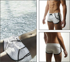 SHORT MAILLOT BLANC SEXY HOMME SEOBEAN  TAILLE  36