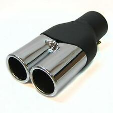 Twin Exhaust Pipe Double Muffler Chrome Endpipe Fits BMW E30 E32 E34 E36 E46