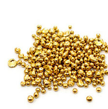 1 Gram 14K Pure Solid Gold Bright Yellow Casting Grain Shot Nugget Round Bullion