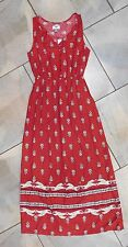 1103 Old Navy Red Boho Sleeveless Long Max Dress XS