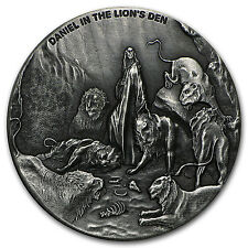 2 oz Silver Coin - Biblical Series (Daniel in the Lion's Den) - SKU #95452