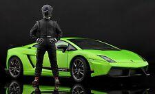 The black STIG Figura per 1:18 Autoart Lamborghini BBR MR VERY RARE