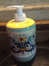 Deruta Italian Majolica - RICCO Soap DISPENSER- NEW