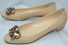 Kate Spade Beige Narina Shoes Women's Flats Size 8 Patent Leather Ballet NIB