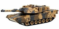 """M1A2 Abrams USA Battle Tank RC 16"""" Airsoft Military Vechile - Desert Camouflage"""