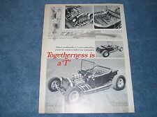 """1923 Ford Model 'T' Roadster Pickup Vintage Article """"Togetherness is a T"""""""