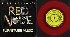 "BILL NELSON'S RED NOISE furniture music HAR 5176 red vinyl uk 1979 7"" PS EX/EX-"