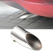 Chrome Straight Curved Car Muffler End Exhaust Sport Trim Tail Pipe Tip Easy Fit