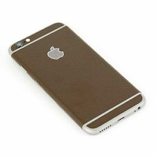 Brown Textured Leather Skin Sticker Kit wrap Cover for Apple iPhone 6, 6s