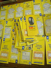 Lot de 34 cartes Michelin