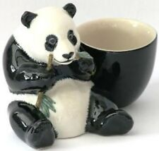 Panda China egg cup Quail Pottery Ceramic china NEW Gift Boxed (WITH)