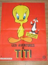 AFFICHE FILM DESSIN ANIME / LES AVENTURES DE TITI  / 80X60 / TRES BON ETAT