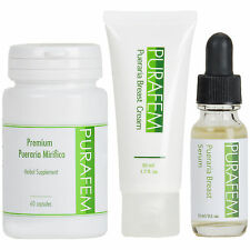 1 x PURAFEM PUERARIA MIRIFICA Breast Enlargement Package Serum, Cream, Capsules