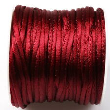 1roll 130373 Hot New Dark Red Color Charm Beading Unelastic Korea Cord Rope 60m