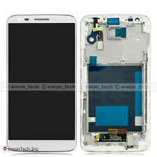 White Touch Screen Digitizer Glass LCD Display Assembly+Frame For LG G2 D802