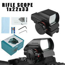 Tactical Holographic Reflex Red Green Dot Sight Hunting Scope for Picatinny Rail