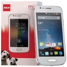 RCA M1 4.0 Unlocked Cell Phone, Dual SIM, 5MP Camera, Android 4.4, 1.3GHz (White