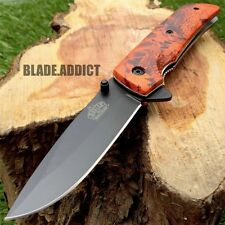 CAMPING Orange Hunting Camo Tactical Spring Assisted Open Folding Pocket Knife