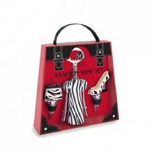 Fashion Wine Zebra Set - Corkscrew and 2 Bottle Stoppers