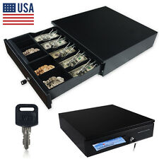 Cash Drawer Box Works Compatible Epson/Star POS Printers w/5Bill &5Coin Tray US