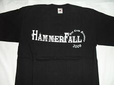 HAMMERFALL - AND CREW NECESSARY 2009 - ORIGINAL BLACK T-SHIRT Size L