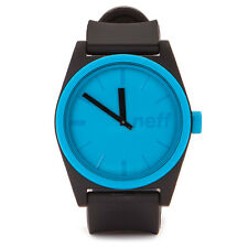 Neff Men's Duo Watch Black Cyan streetwear accessories wrist watch