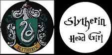 HARRY POTTER SLYTHERIN HEAD GIRL Novità Umorismo Divertente 25mm Pulsante Pin Badge x2