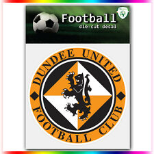 "Dundee United FC UEFA Die Cut Vinyl Sticker Car Bumper Window 4""x4"""