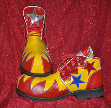 ZYKO Professional Real Leather Clown Shoes Flame  model (ZH018) Red/Yellow